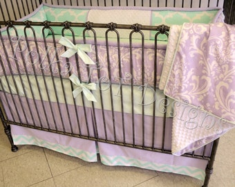 Baby Bedding: Lavender & Mint Gracely