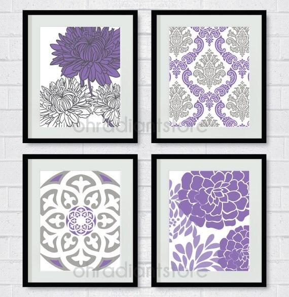 purple grey damask flower digital printable by. Black Bedroom Furniture Sets. Home Design Ideas