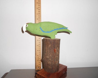 Puerto Rico Parrot carved wood figurine
