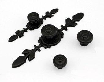Black Dresser Knob Drawer Knobs Pul Ls Handles Kitchen Cabinet Knobs