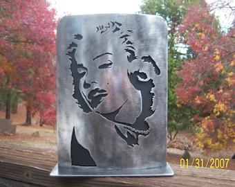 Marilyn Monroe portrait in steel