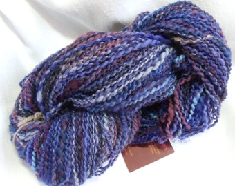 Handspun Corriedale,BFL, merino and silk yarn