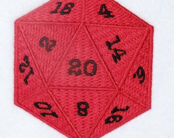 D20 Dice Patch 80mm (3.14 inch)
