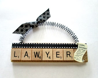 Lawyer Attorney Legal Scrabble Tile Ornaments