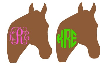 Monogramed Horse decal