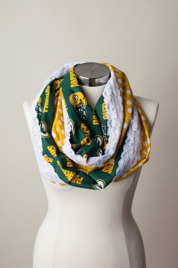 green bay packers nfl infinity scarf by thriftygirldesign