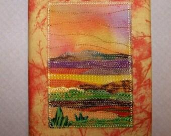 Stitched Fabric Journal
