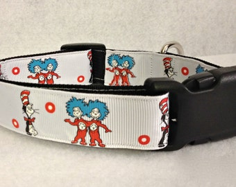 Dr. Seuss Thing 1 Thing 2 Dog Collar