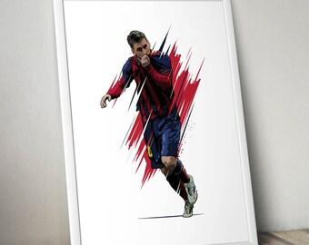Lionel Messi FC Barcelona Passion Print.