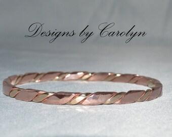Copper & Brass Bangle Bracelet CSS141B