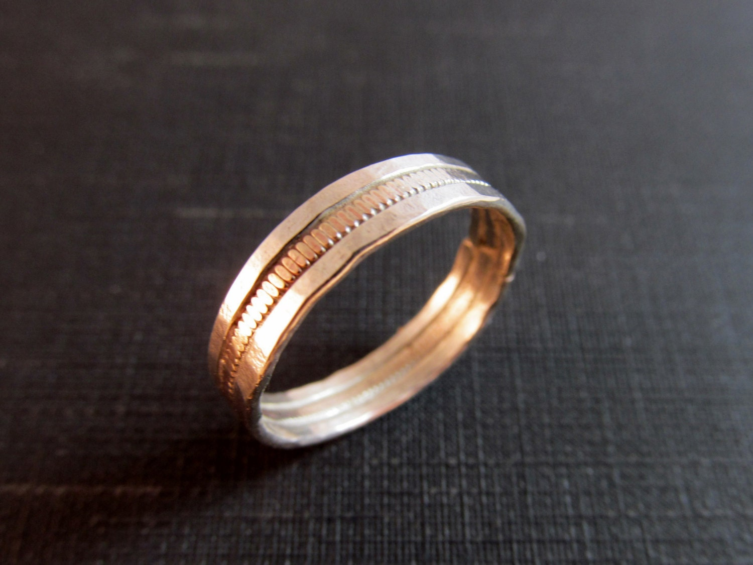 guitar string wedding band sterling by thechestnutforge With guitar wedding ring