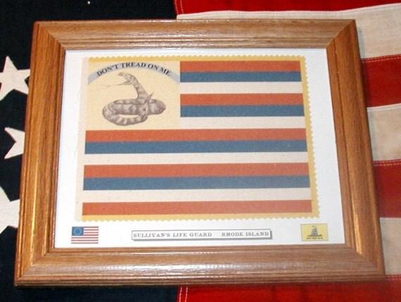 Rhode Island Revolutionary War Flag, Don't Tread On Me, Sullivans Life Guard