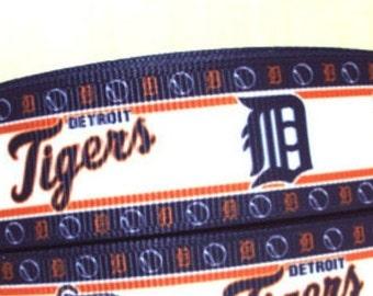 "3 Yards of Detroit Tigers 1"" grosgrain ribbon"