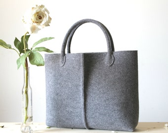 Discount: ORIGINAL PRICE 92,67 DOLLARS - Elegant and Casual Felt Bag from Italy, Tote Bag, Market Bag, Felt Tote, Everyday Tote.