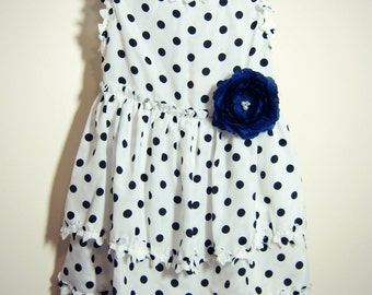 Black Polka Dot Girl Dress