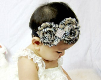 Shabby Rosette Baby Headband,Girl Headband