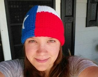 texas flag beanie many sizes available