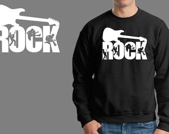 Rock Sweatshirt Guitar Music Jersey Fleece Sweater