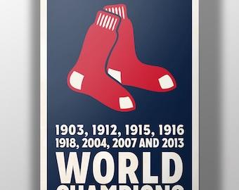 Boston Red Sox World Champions Print
