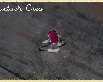 Ring silver & Pink Tourmaline from Madagascar