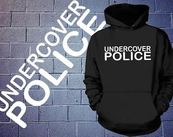 Undercover Police Hoodie Police Sweatshirt Hooded Sweater