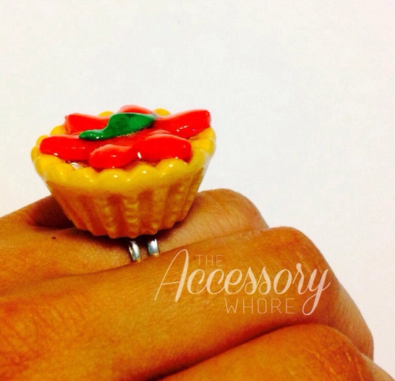 Sweet Strawberry Pie Ring - Delicious Summer Berries / BiG Ring / Cute ...