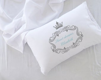 Sweet Dreams, Personalized Pillowcase, Valentine's Day Gift, Wedding, Love, Anniversary