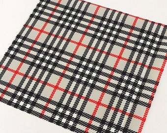 Waterproof Fabric For Bags Black & Red Plaid By The Yard
