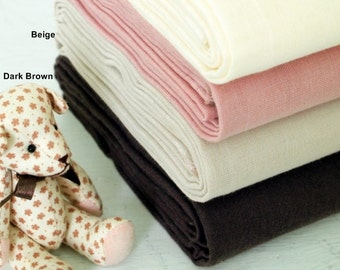 Double Gauze Fabric in 2 Colors By The Yard
