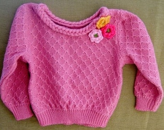 baby wool cotton linen sweater knit