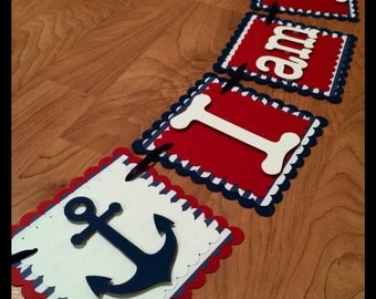 Nautical Anchor Banner (first birthday)