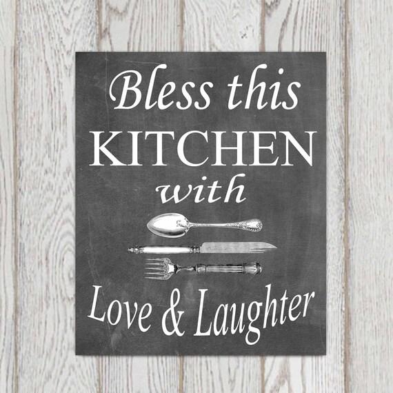 Kitchen Chalkboard Quotes: Kitchen Decor Chalkboard Kitchen Wall Art Kitchen By
