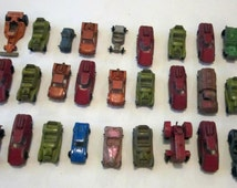 33 Die cast metal toy cars.  Some are tootsie toy cars. Great collection!