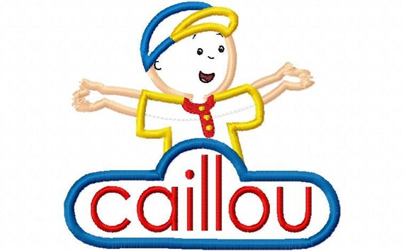 Caillou Body and Name Design Machine Embroidery Design 4x4 and 5x7