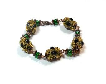 Bracelet made of braided beads handmade