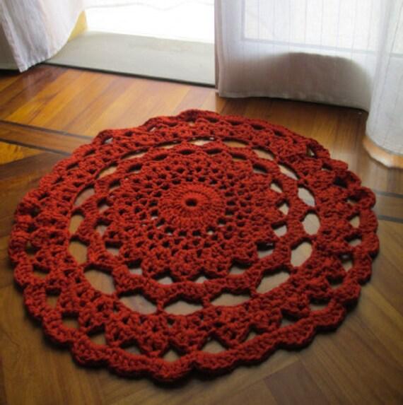 Items Similar To Crochet Doily Rug/Crochet Rug/Kitchen Rug