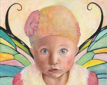 Custom Fairy Portrait Painting of your Child