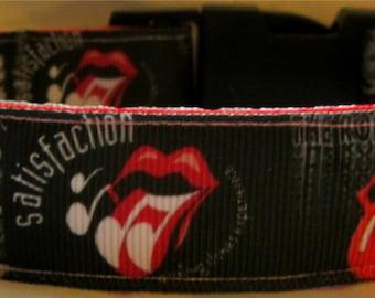 Rolling Stones Dog Collar