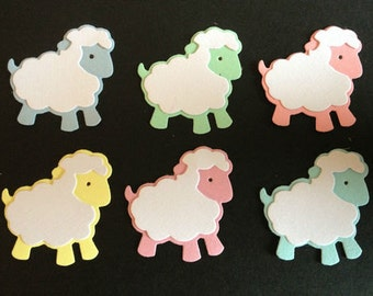 15 Cute Lamb Sheep Baby die cuts for cards toppers baby cardmaking scrapbooking craft projects
