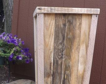 Reclaimed wood planter box/wedding planter box/Entry wood planter