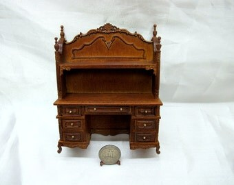 Doll House  Wood Caved Miniature 1:12 Scale Youth Desk
