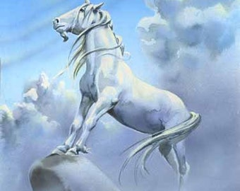 "UNICORN Sky 8""x10"" Giclee Fine Art Print by Herb Leonhard"