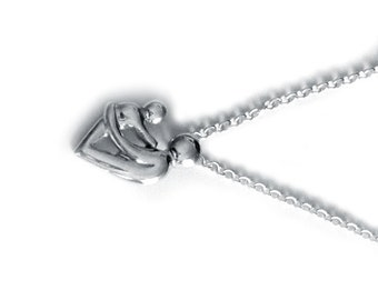 Mother and Child Handmade Sterling Silver Necklace