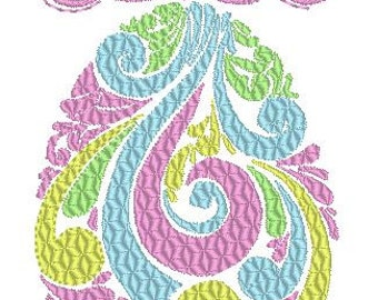 Easter egg Embroidery Design, Machine Embroidery Design, Easter Embroidery Design, Digital Download