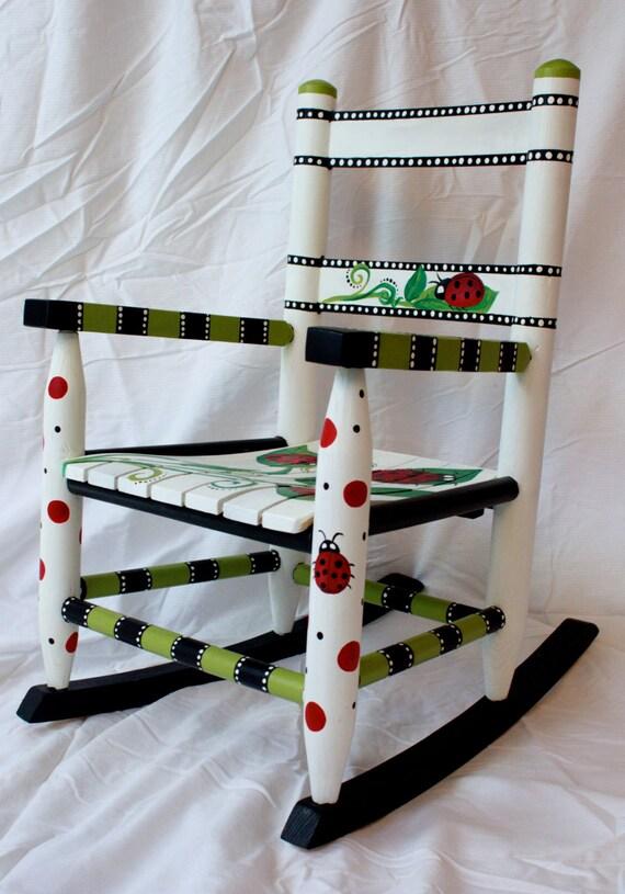 Items similar to Ladybug Rocking Chair on Etsy