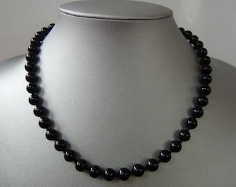 Semi Precious Onyx Stone Necklace 19 Inch