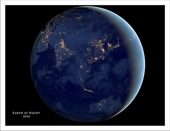WORLD MAP Map Of The World Globe Asia Map Australia Map - Satellite map of the world at night