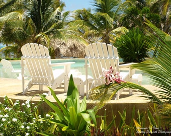 Landscape Photography, Chairs by the Pool, Travel Photography, Home Decor, Tropical Photography, Nature Photography, Fine Art Photography