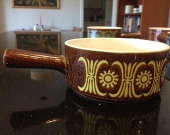 Vintage Mid Century Jonas Roberts Design JAPAN handled soup bowls - Set of 4