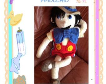 Pinocchio Doll crochet pattern.